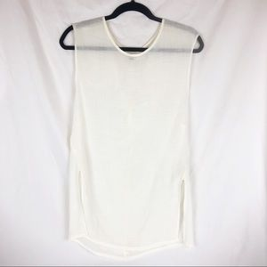 Ecote UO Ivory Beachwood Sheer Tunic X-Small